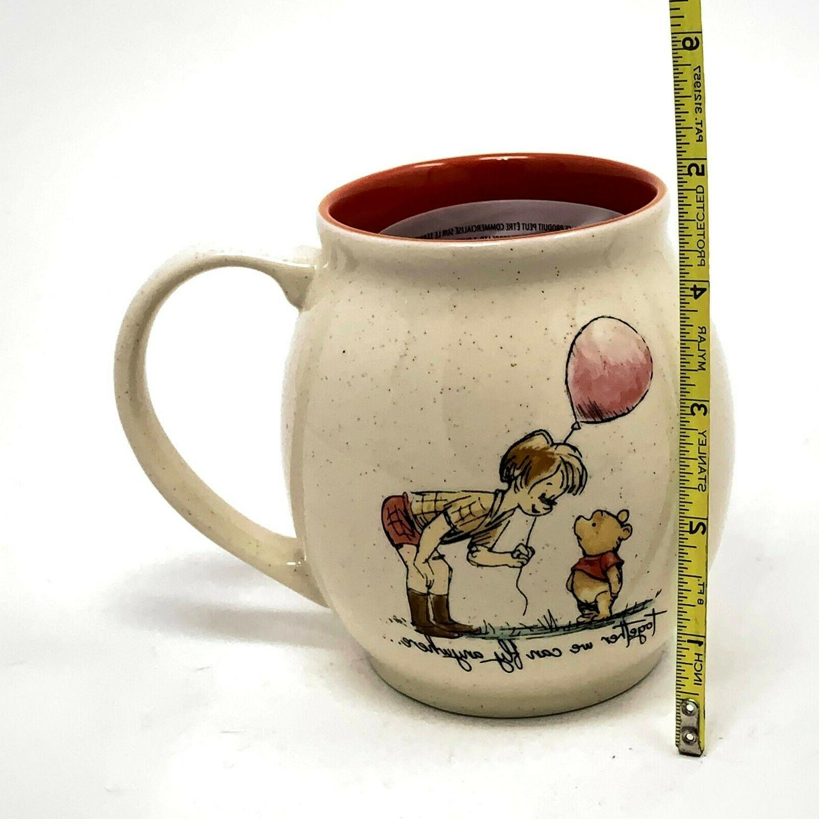 Disney Winnie Together We Can Anywhere Stoneware Mug oz NEW