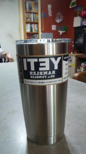 yeti rambler 20oz tumbler stainless steel insulated