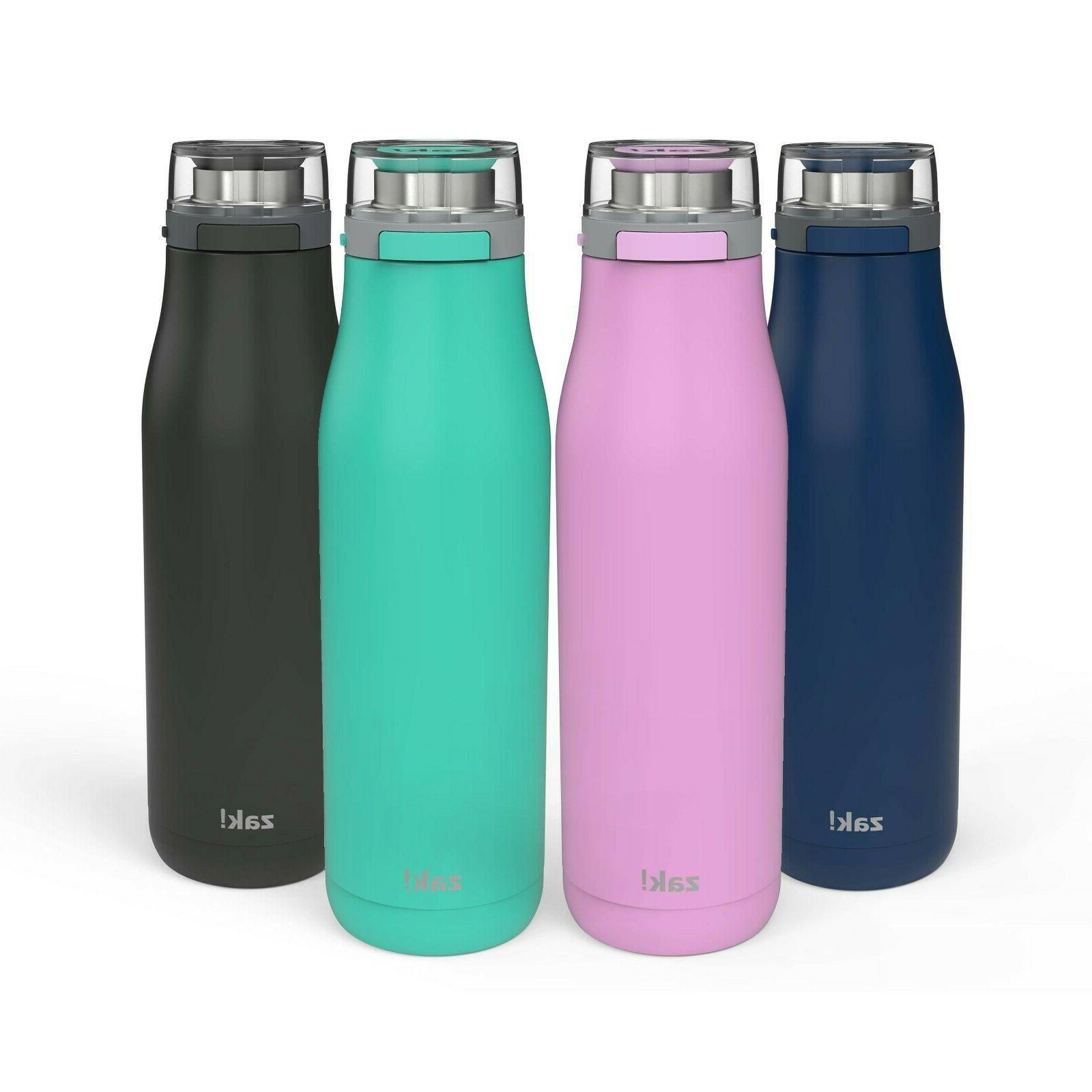 zak designs insulated stainless water bottle action