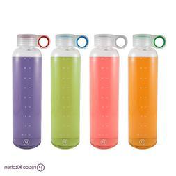 Pratico Kitchen 20 oz Leak-Proof Glass Bottles, Juicing Cont