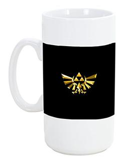 Legend of Zelda Triforce Symbol Print Big 20 ounce Ceramic C