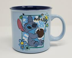 Disney Lilo & Stitch Coconut Drink Aloha Floral Frame Blue 2