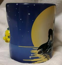 Disney Little Mermaid/Flounder SPINS Coffee Tea Cup 20oz Ari
