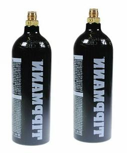 Lot of 2 - Tippmann 20oz Steel CO2 Paintball Tank 20 OZ with