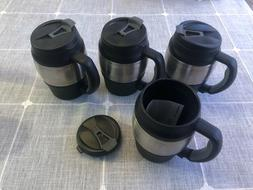 Lot of 4 20oz Thermos Mini Bubba Mugs New/Unused with Lids a