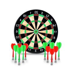 "New 17"" Magnetic Professional Safe Dart Board with 12 Magnet"