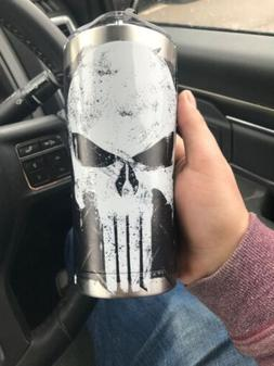 MARVEL THE PUNISHER TERVIS STAINLESS STEEL TUMBLER 20 OZ WIT