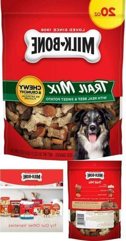 Milk-Bone Trail Mix Chewy and Crunchy Dog Treats, Beef & Swe