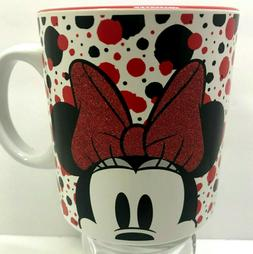 Disney Minnie Mouse 20 Oz Ceramic Coffee Mug White Black Red