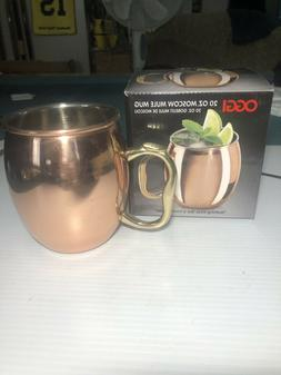 Oggi Moscow Mule Copper Plated Mug with EZ-Grip Handle, 20oz