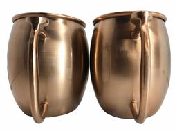 Moscow Mule Mugs 20 OZ Each Stainless Steel Brushed Copper 2