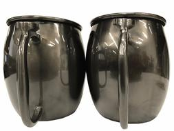 Moscow Mule Mugs 20 OZ Each Stainless Steel Brushed Gunmetal