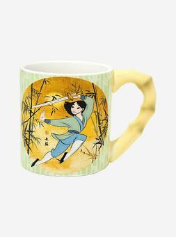 DISNEY MULAN 20oz Oversized Coffee Mug Cup With Bamboo Handl