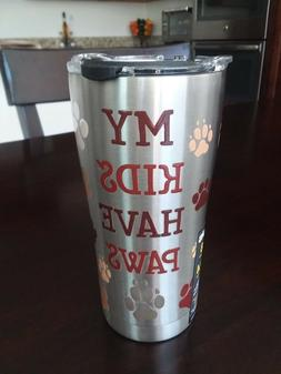 TERVIS My Kids Have Paws SIC Edge Stainless Steel 20 oz Tumb