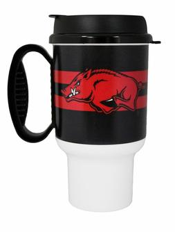 NCAA Arkansas Razorbacks Striped Insulated Travel Mug 20oz T