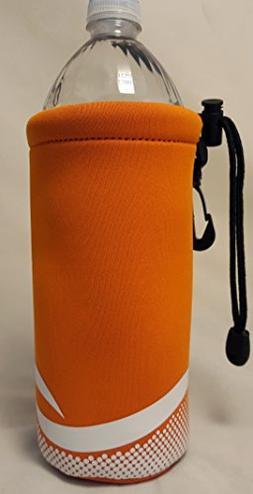 Neoprene Bottle Holder Keeps Bottles Cold Orange NEW