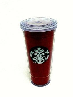 New Starbucks 20 Oz Cold Cup Red Glitter Sparkle Venti