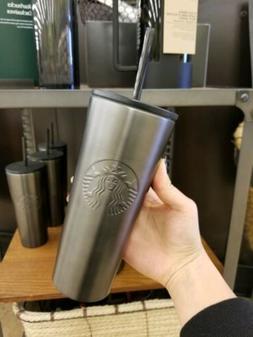 NEW 2019 Starbucks Dark Gray Stainless Steel Travel Tumbler
