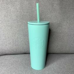 NEW Starbucks 2019 Summer Tiffany Blue Stainless Steel Tumbl