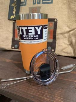 New Yeti 20oz Stainless Steel Tumbler Coral with Magnetic Sl