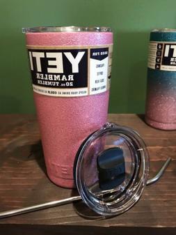 new 20oz stainless steel tumbler pink glitter