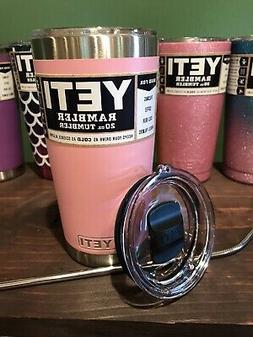 New Yeti 20oz Stainless Steel Tumbler Pink with Magnetic Sli