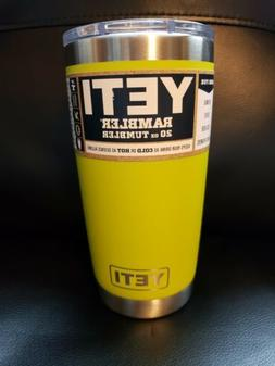 New! Chartreuse Yeti 20oz Rambler Cup With Magslider Lid  Di