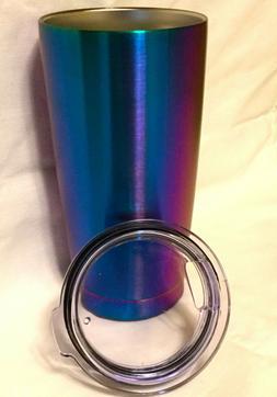 NEW Coffee Mug Tumbler Like Yeti w/ Lid Travel Iridescent Pu