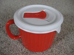 NEW Corningware Colours 20oz Stoneware Red Soup Mug Vented P