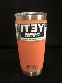 New! Coral Yeti 20oz Rambler Cup With Magslider Lid