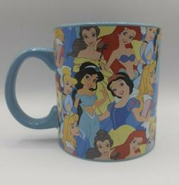 NEW! Disney Princess Collage 20 oz Ceramic Coffee Cup Mug Gi