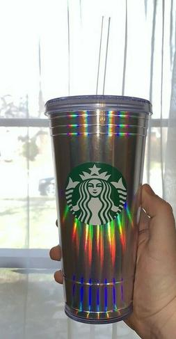 9031f5ef18e NEW Starbucks Holiday 2018 Iridescent Tumbler Plastic Hologr