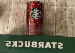 New Starbucks Holiday Stainless Steel Tumbler 20 oz Red Polk
