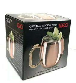NEW in Box 20 oz OGGI Moscow Mule MUG Stainless Steel Copper