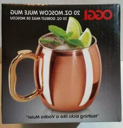 New in Box Single Oggi Moscow Mule Mug Copper Plated Cup 20