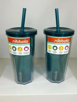 New! Lot of 2 Aladdin 20 Oz Insulated To Go Tumblers Teal w