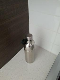 New One Starbucks Water Bottle Silver Double Wall Stainless