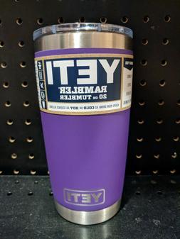 New Yeti Peak Purple 20 oz Tumbler w/ MagSlide lid