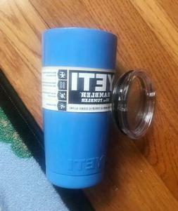 New powder coated 20 oz blue Yeti mug rambler tumbler coffee