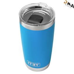 New Yeti Rambler 20oz Tumbler w Slider Lid Stainless Steel I