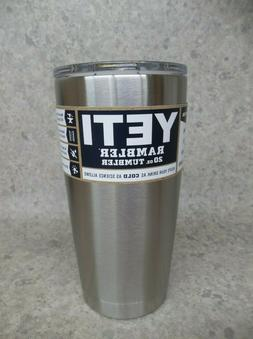 NEW Yeti Rambler 20oz Tumbler with Lid  Stainless Steel  ~Fr