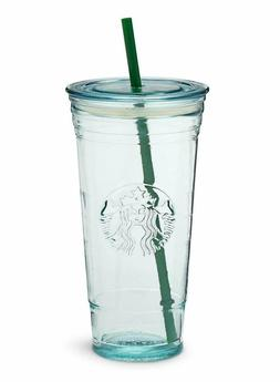 NEW Starbucks 20 OZ VENTI RECYCLED GLASS Cold Cup Tumbler Ma
