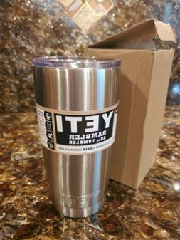 YETI New Silver Rambler 20 oz Stainless Steel Vacuum Insulat