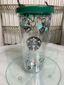 NEW Starbucks 2020 heart Cold Cup Tumbler  20 OZ   missing s