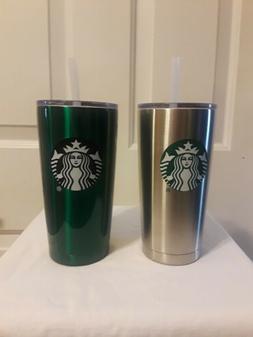 New Starbucks Tumbler W/ Straw 20 oz New Set of 2