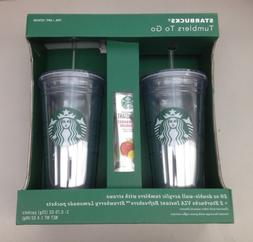 NEW Starbucks Tumblers 2 Pack 20 oz. Double-Wall Acrylic Col
