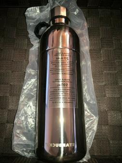NEW Starbucks Water Bottle Silver Double Wall Stainless Stee