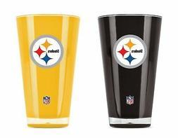 NFL Pittsburgh Steelers 20oz Insulated Acrylic Tumbler Set o