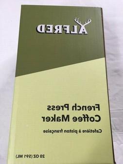 NIB ALFRED French Press Coffee Maker 20 oz. Limited Edition