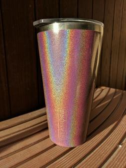 NIB BruMate Imperial Pint Insulated 20 oz Glitter Merlot